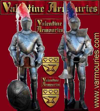 Valentine Armouries: Full Suits of wearable Armour, fully